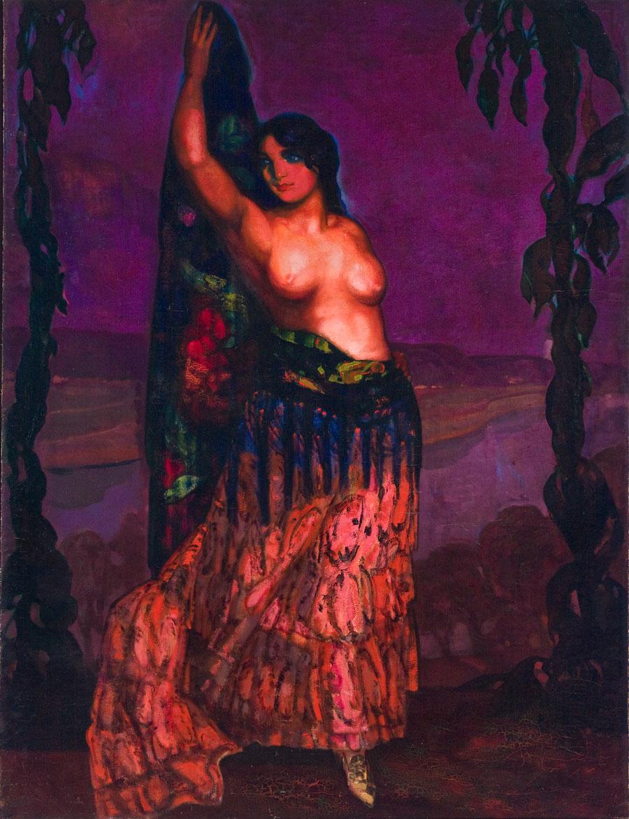 Bailarina semidesnuda. ID 005. Corpus Online Museo Gustavo de Maeztu