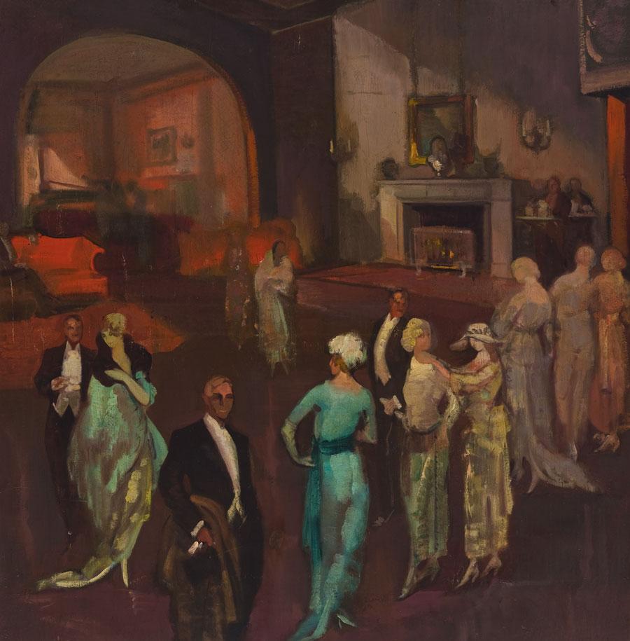 Evening Party. ID 035. Corpus Online Museo Gustavo de Maeztu