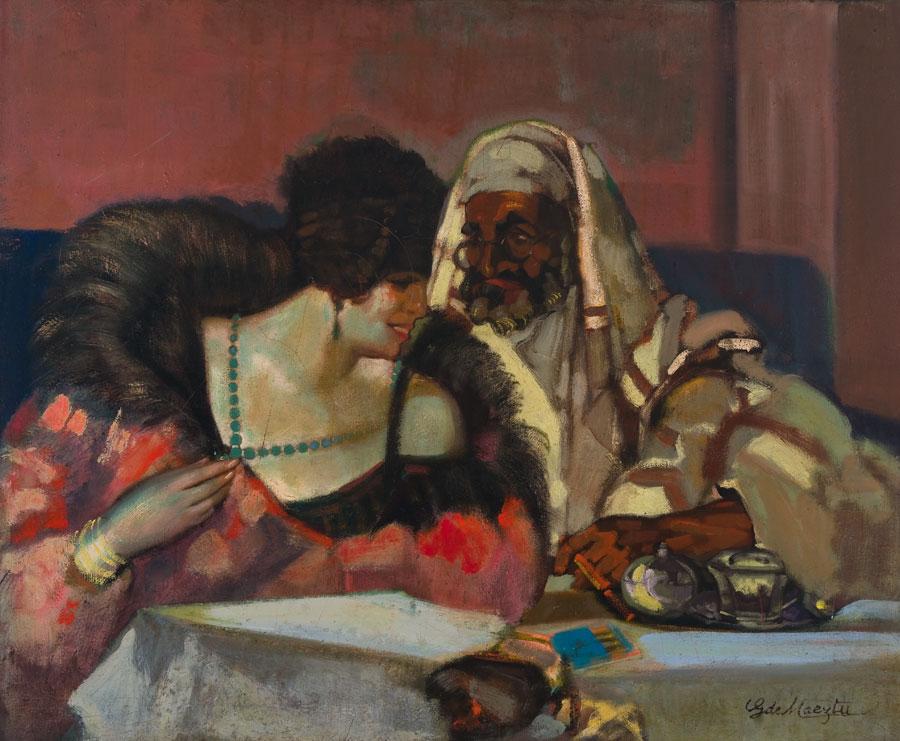 Parisina y árabe. ID 082. Corpus Online Museo Gustavo de Maeztu