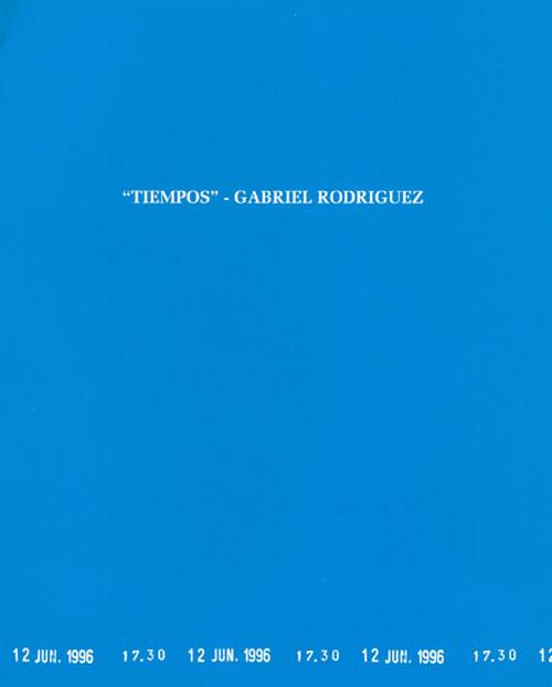 Gabriel Rodríguez - Tiempos. Catálogos museo Gustavo de Maeztu